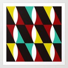 Red, Yellow & Blue Twist Art Print