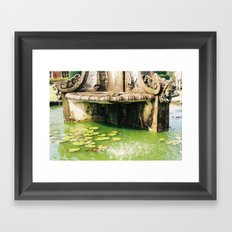 Water by a Fountain Framed Art Print