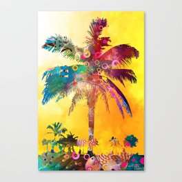 Palm in the Sun Canvas Print