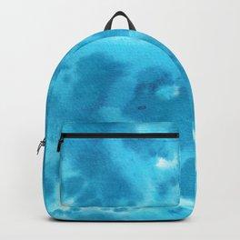 Blue watercolor spots Backpack