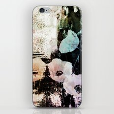 poppies on abstract background iPhone & iPod Skin