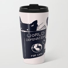 World Domination For Cats Metal Travel Mug