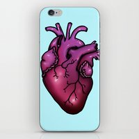 anatomical heart iPhone & iPod Skins featuring Anatomical Heart by Hungry Designs