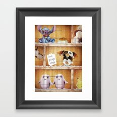 The Cosmic Pet Shop Framed Art Print