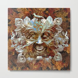 Jack In the Green (Autumn Leaves) Metal Print
