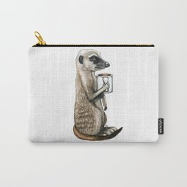 """""""Meerkat Macchiato"""" - Java Jungle collection Carry-All Pouch"""