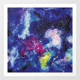 Galaxy Watercolor Art Print