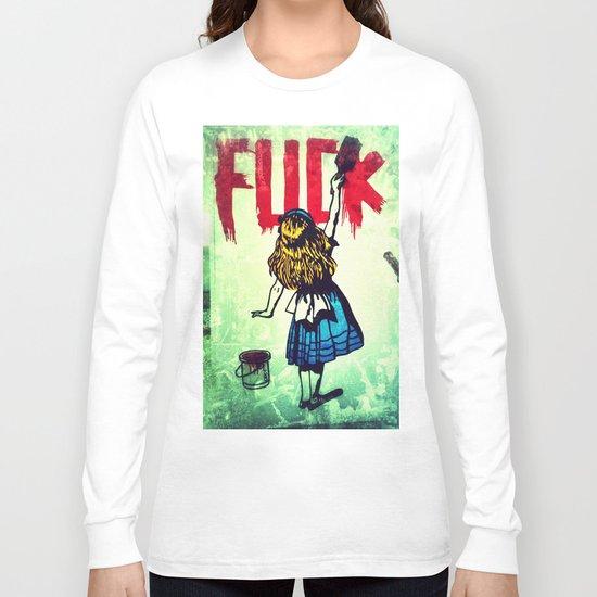 Writing Fuck Long Sleeve T-shirt