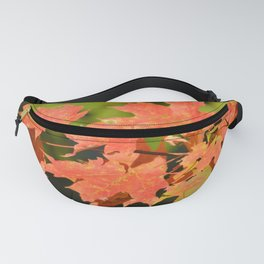 Fall Autumn Maple Leaves Red Orange Autumnal Colors Fanny Pack