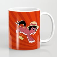 luffy Mugs featuring OP Pony Luffy by AbigailC