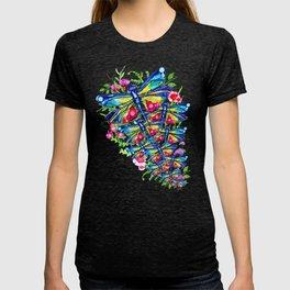 Tropical Dragonfly Garden T-shirt