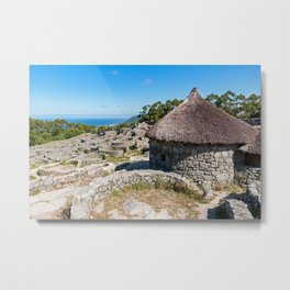 Ruins of ancient Celtic village in Santa Tecla - Galicia, Spain Metal Print