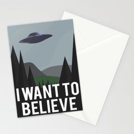I want to belive Stationery Cards
