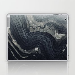 Dark Gray Marble Pattern Laptop & iPad Skin
