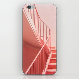 Pink steps | Pastel colored staircase in Cannes France | Travel architecture photography iPhone Skin