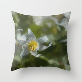 Avalanche Lily Painterly Throw Pillow