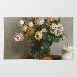Henri Fantin Latour - Flowers And Fruit Rug