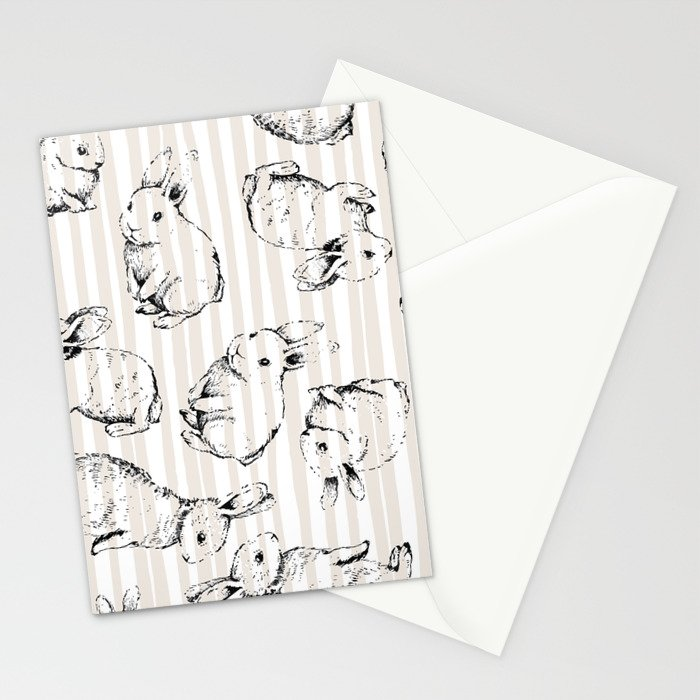 Vintage Bunnies Stationery Cards