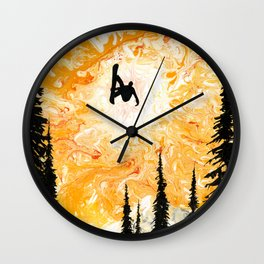 Fire Sky Wall Clock