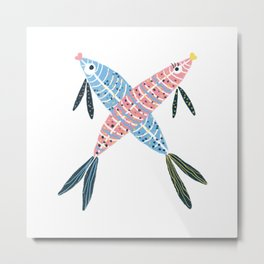 X is for X-ray Fish Metal Print
