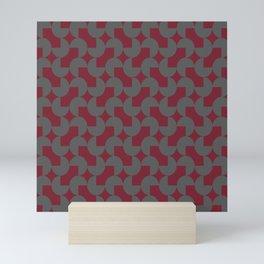 Obrtati (Scarlet/Gray) Mini Art Print
