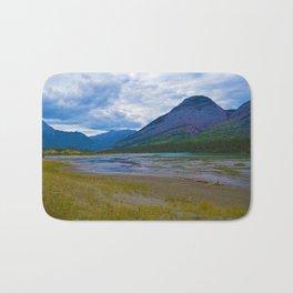 Morrow Peak & the Athabasca River in Jasper National Park, Canada Bath Mat