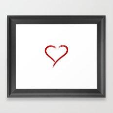Simple Heart Framed Art Print