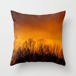Too Close to the Fire Throw Pillow