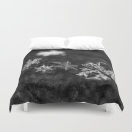 Clump of snowflakes Duvet Cover