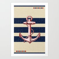 anchors Art Prints featuring Anchors by Katherine Marshall