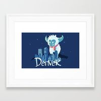 denver Framed Art Prints featuring Denver by queeneyesore