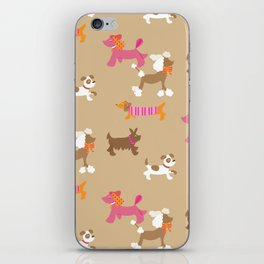 Walkies, Poodles, Sausage dogs and Terriers iPhone Skin