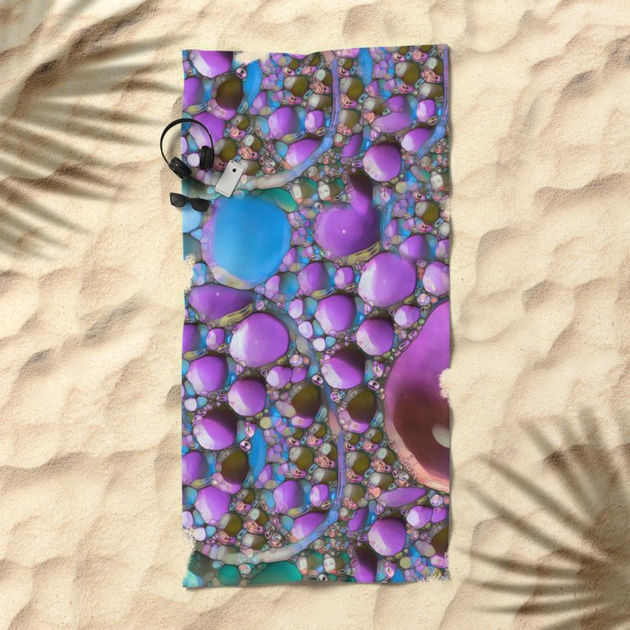 Green Purple and Blue Beach Towel
