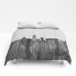 Aberdeen, Scotland Skyline - Navaho B&W Comforters