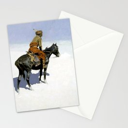 """Frederic Remington Western Art """"The Scout"""" Stationery Cards"""