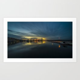 Dusk over Pula Harbour  Art Print