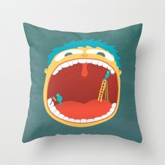 Oh, They're Teeth People! Throw Pillow