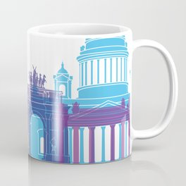 St Petersburg skyline pop Coffee Mug
