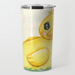 Bath Time Ducky - Watercolor Travel Mug