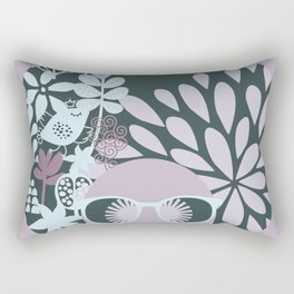 Afro Diva : Sophisticated Lady Pastel Rectangular Pillow