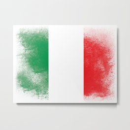 Italy flag isolated Metal Print