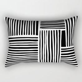Crossed Lines II Rectangular Pillow