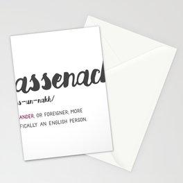 Outlander Sassenach Definition Stationery Cards