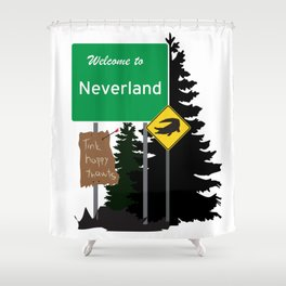 Neverland signs Shower Curtain