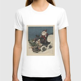 Vintage Santa Claus in a Motorized Sleigh (1920) T-shirt