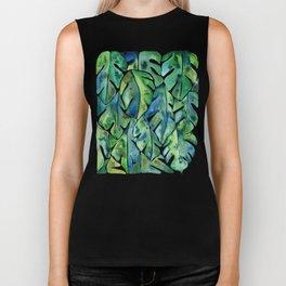 Split Leaf Philodendron – Green Biker Tank