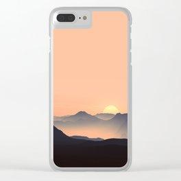 sundown feels Clear iPhone Case