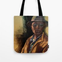 grand theft auto Tote Bags featuring Grand Theft Auto Online Characters - The Lazy of The Damned by W_Flemming