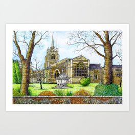 Chelmsford Cathedral, UK Art Print