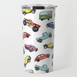 Cute Colorful Toy Car Illustration Pattern Travel Mug